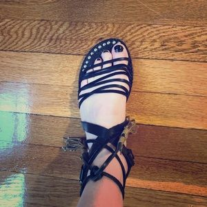 Free people flat strapped sandals